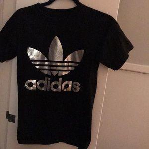 Adidas metallic T-shirt